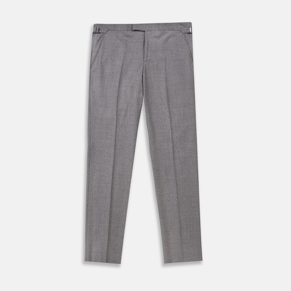 Dove Grey Escorial Lightweight Wool Trousers