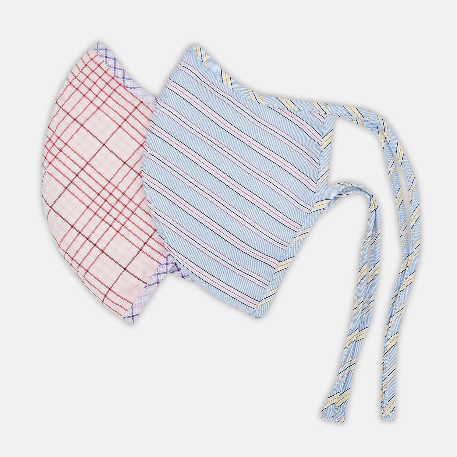 Blue, Pink & Yellow Striped Cotton Commuter Mask with 3 VIROFORMULA™ filters