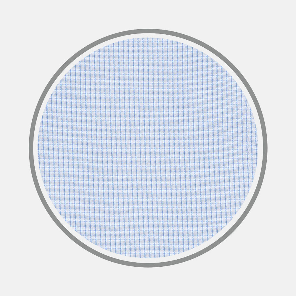 Light Blue Fine Check Cotton Fabric