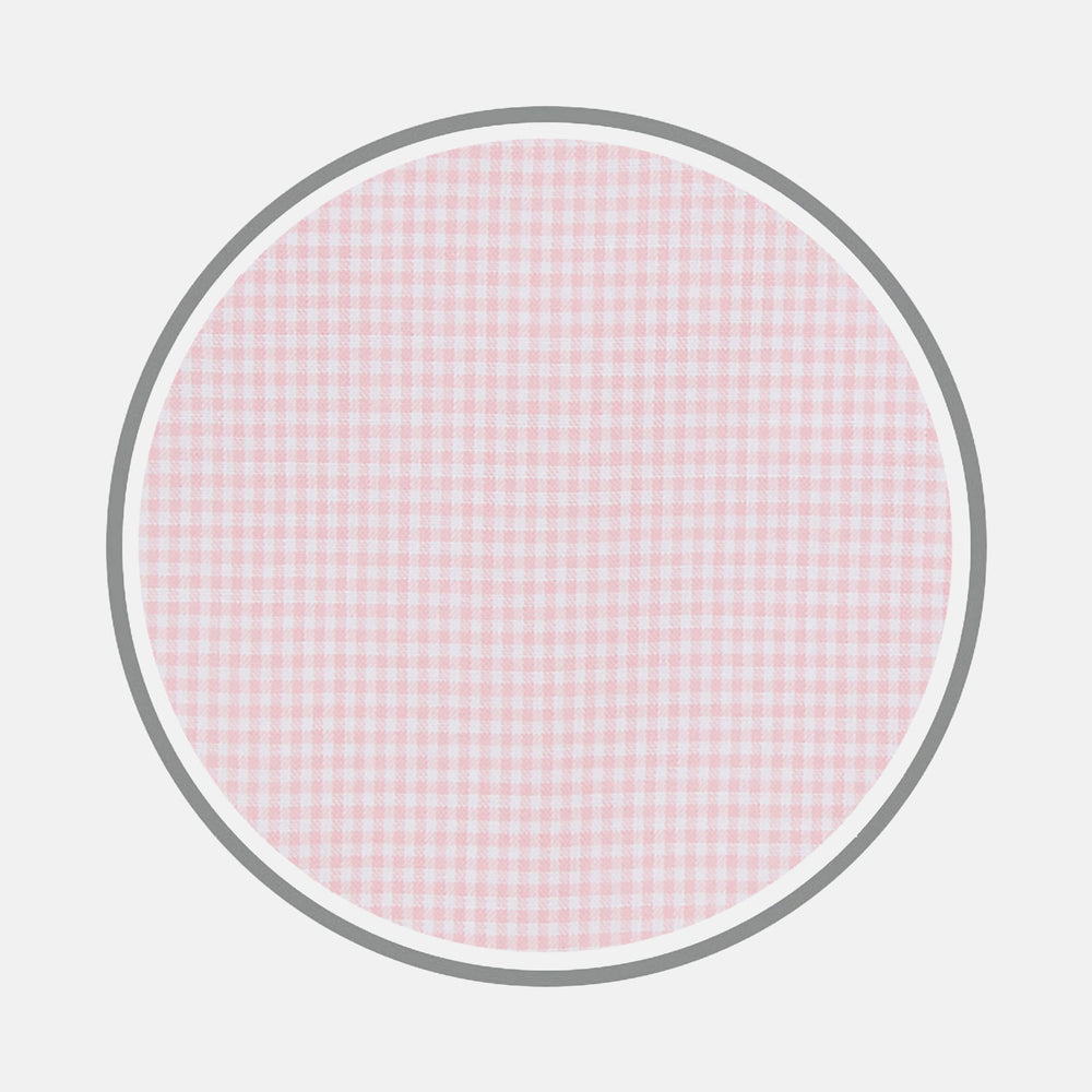 Pink Micro Check Cotton Fabric