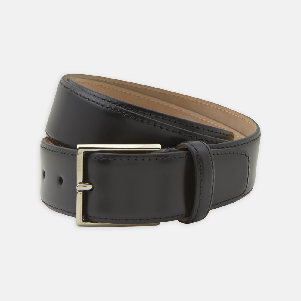 Black Nubuck Leather Evening Belt