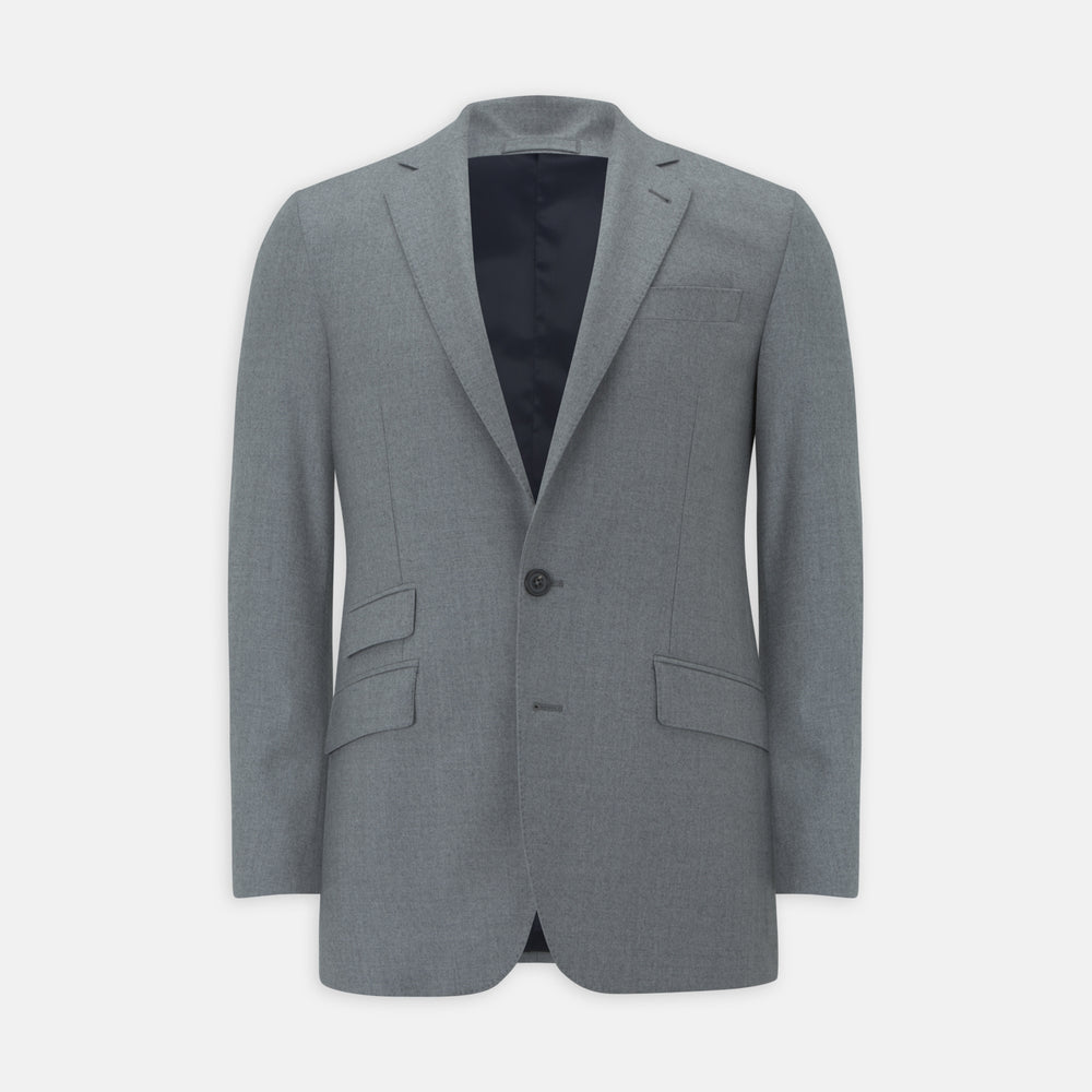 Dove Grey Escorial Lightweight Wool Jacket