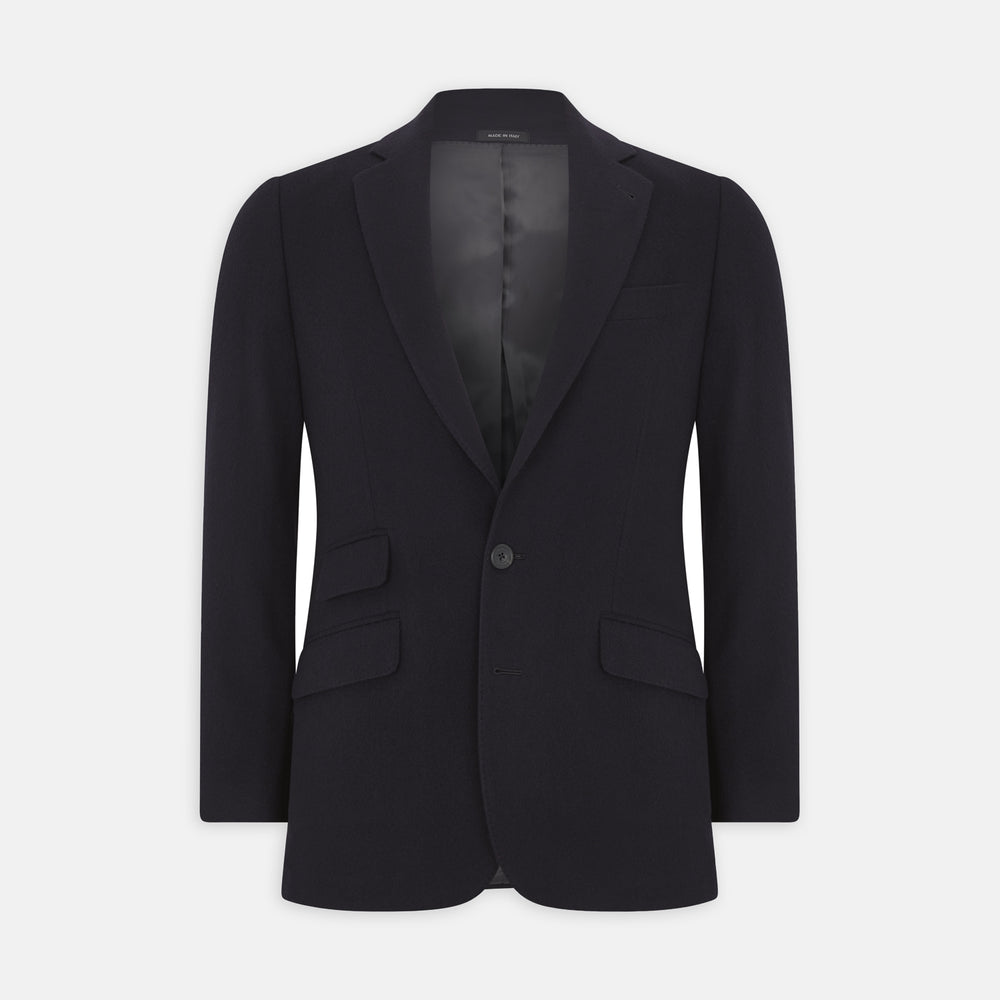 Navy Cashmere Jacket