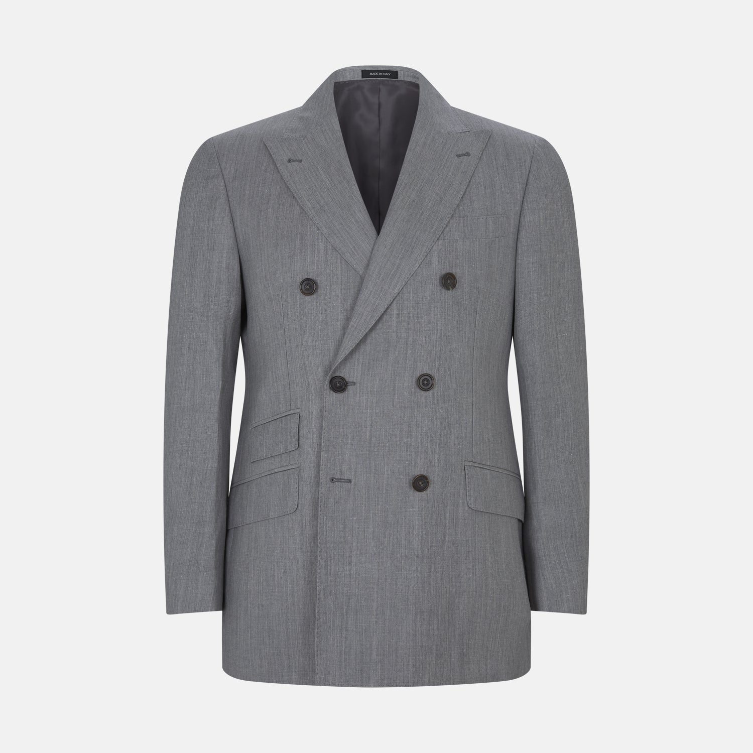 Bertie Grey Double Breasted Linen Jacket