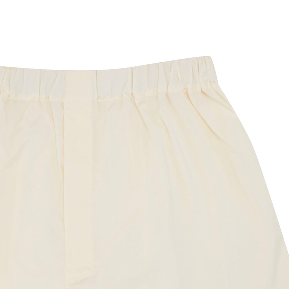 Plain Cream Cotton Boxer Shorts
