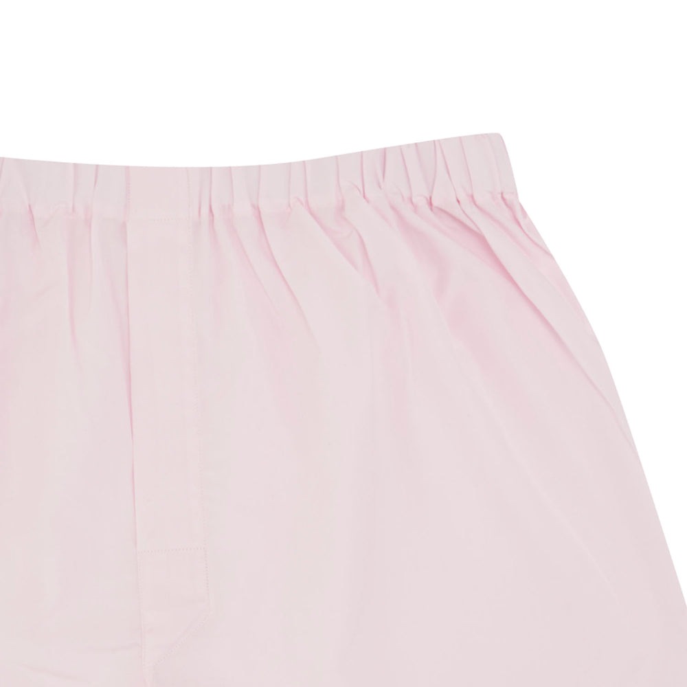 Plain Pink Cotton Boxer Shorts