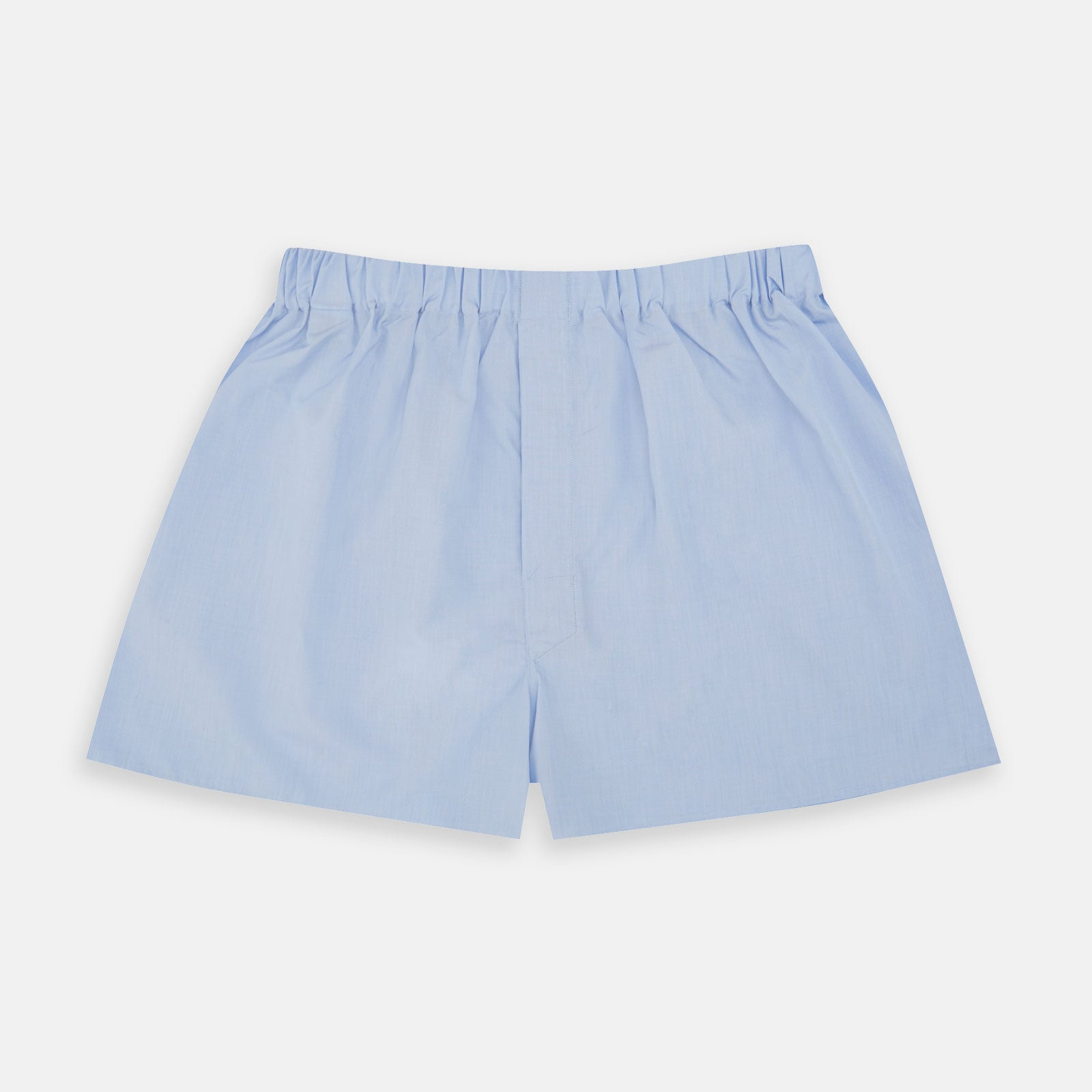 Light Blue End-On-End Cotton Boxer Shorts