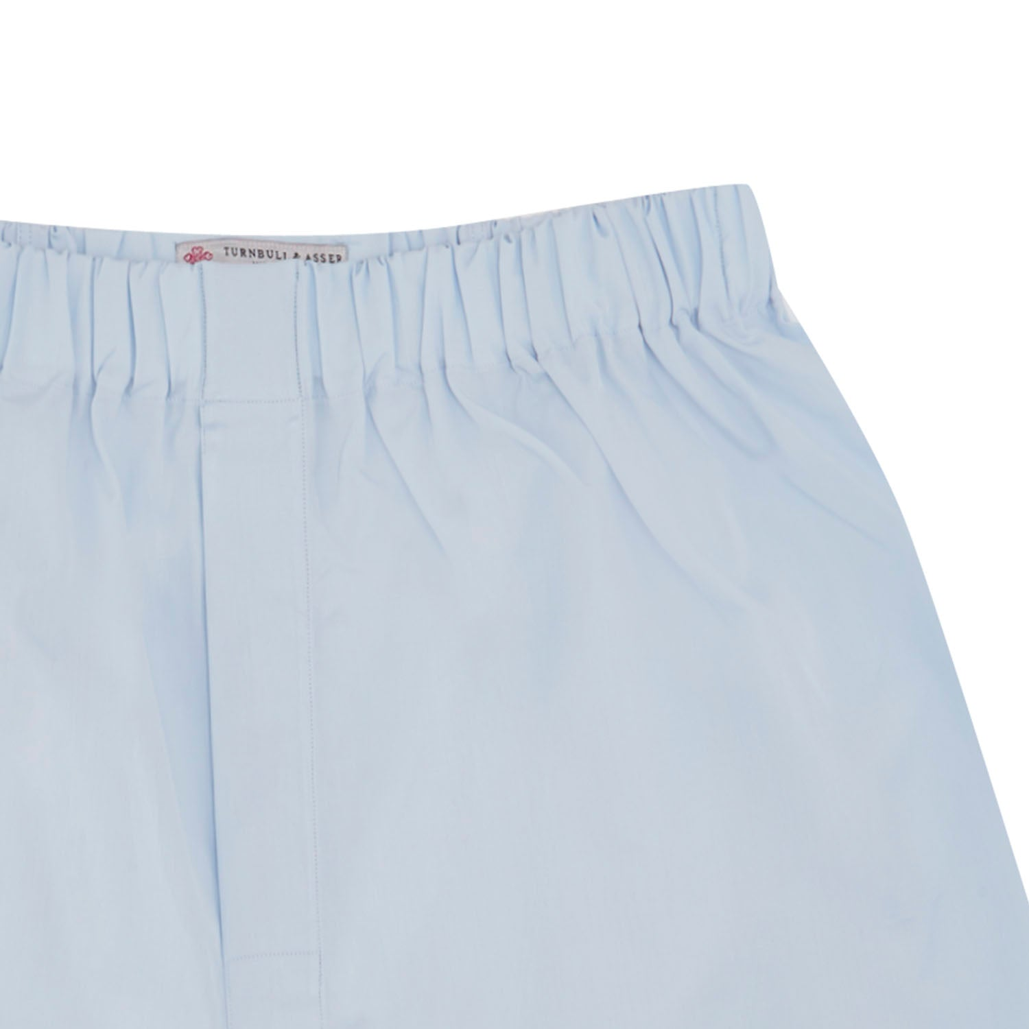 Light Blue Sea Island Quality Cotton Boxer Shorts