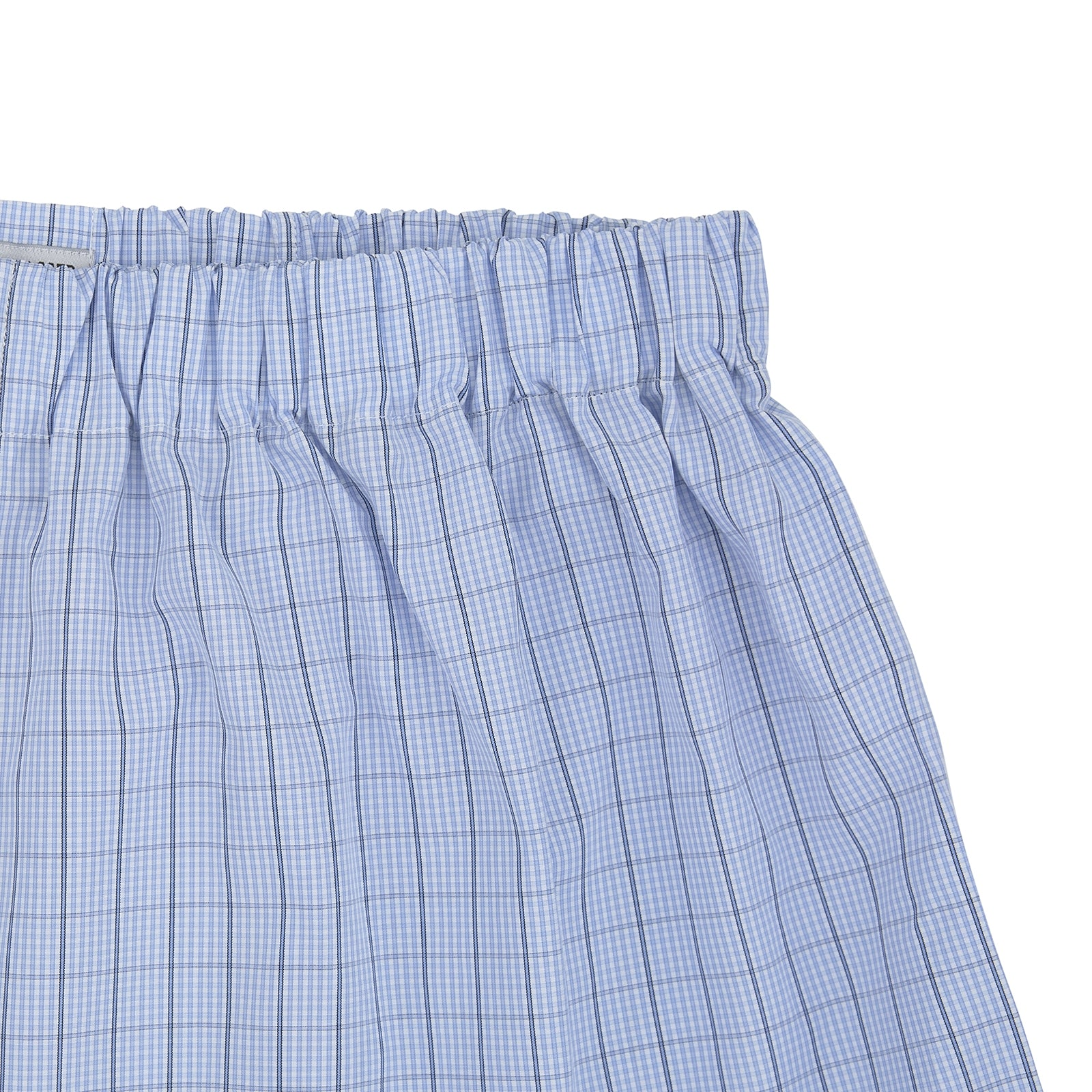 Sky Blue and Turquoise Pin Check Cotton Boxer Shorts