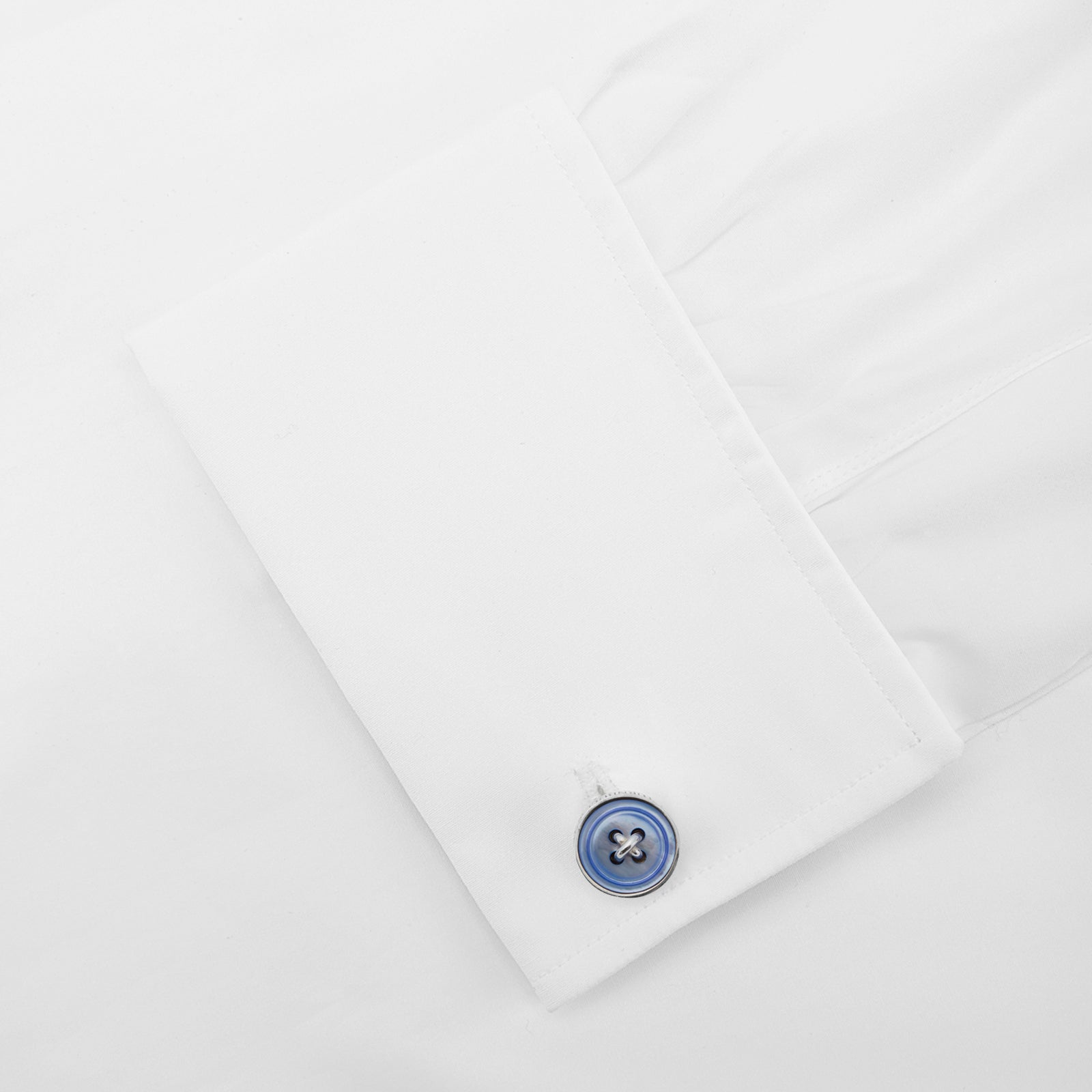 Purple Sterling Silver Mother-of-Pearl Button Cufflinks