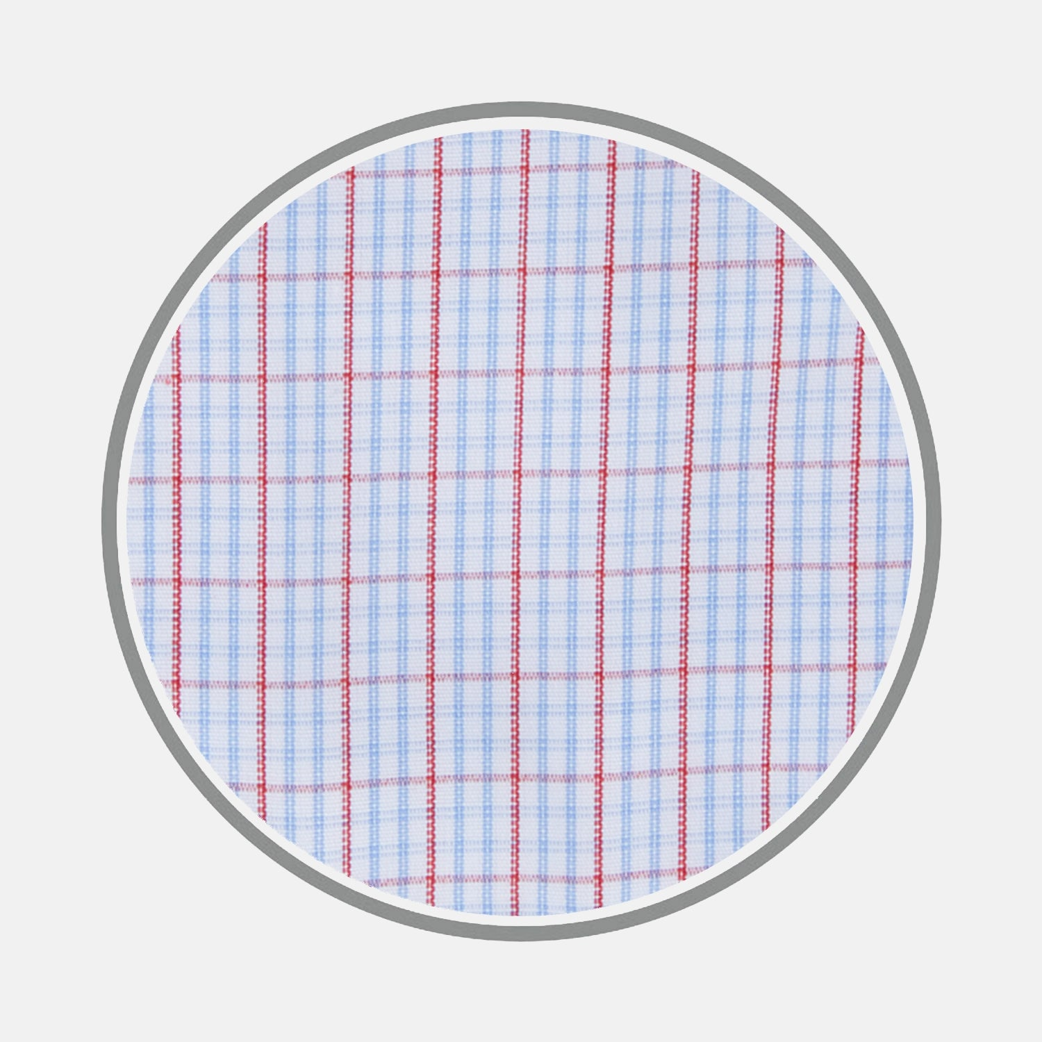 Red and Blue Supraluxe Check Cotton Fabric