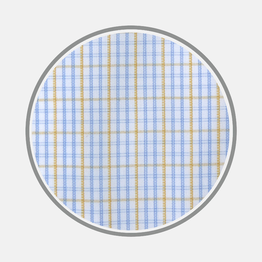 Yellow and Blue Supraluxe Check Cotton Fabric