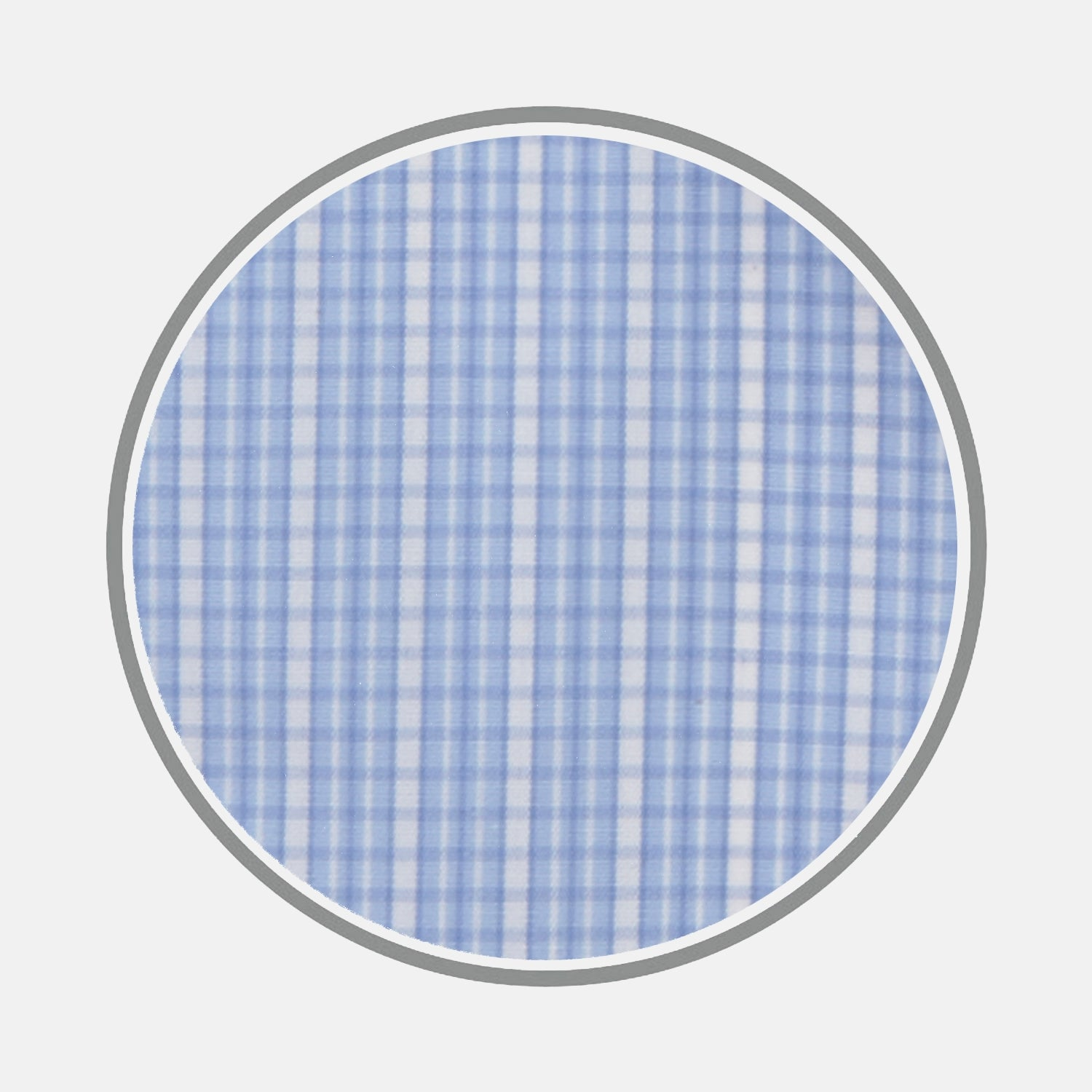 Blue and White Miniature Check Cotton Fabric