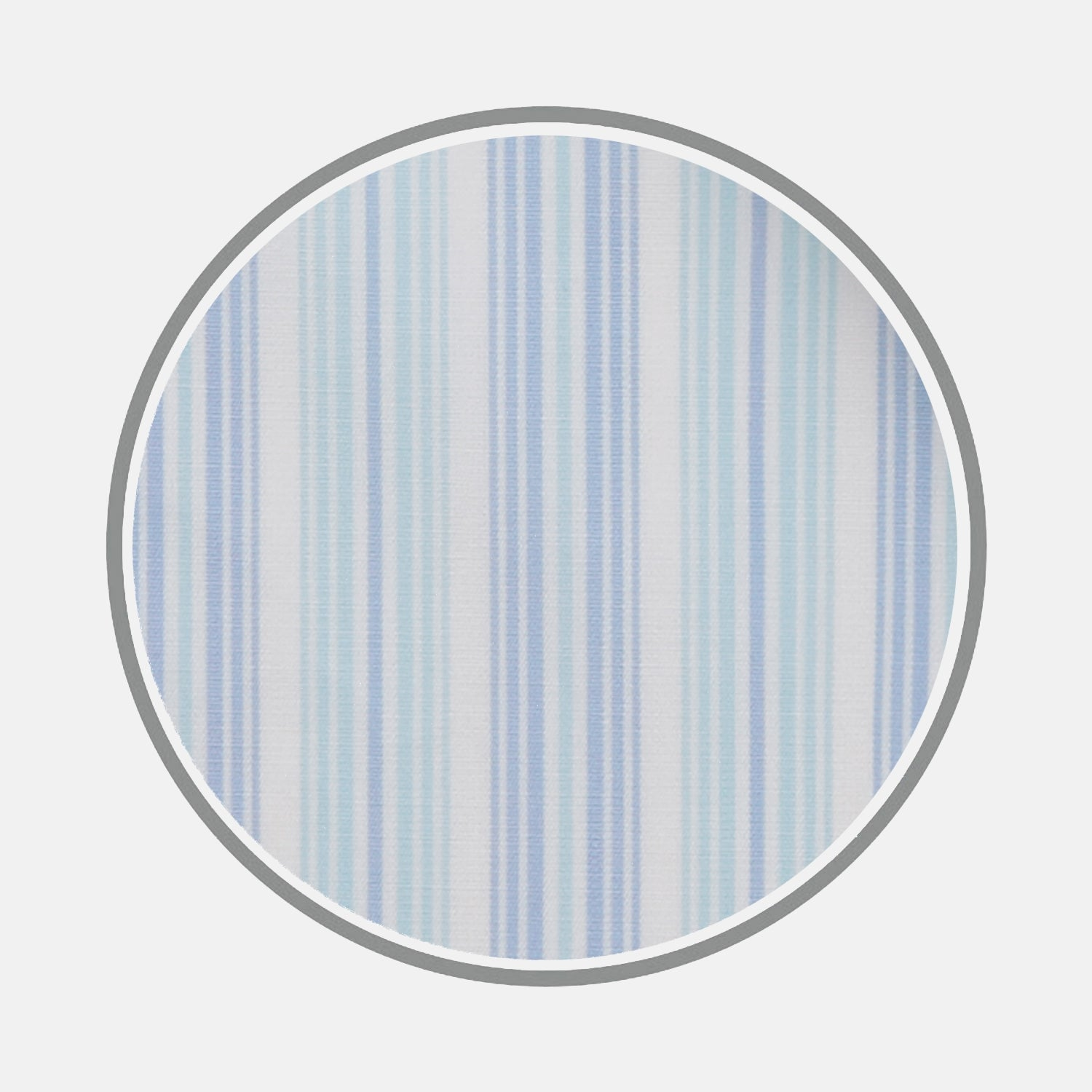 Blue and Turquoise Brush Stripe Cotton Fabric