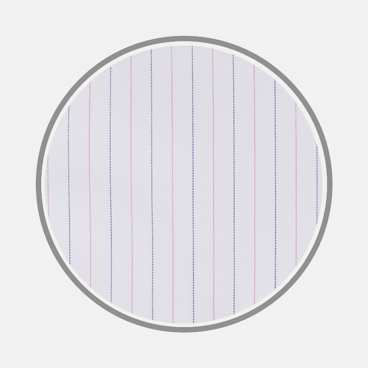 Pink and Navy Hairline Stripe Sea Island Quality Cotton Fabric