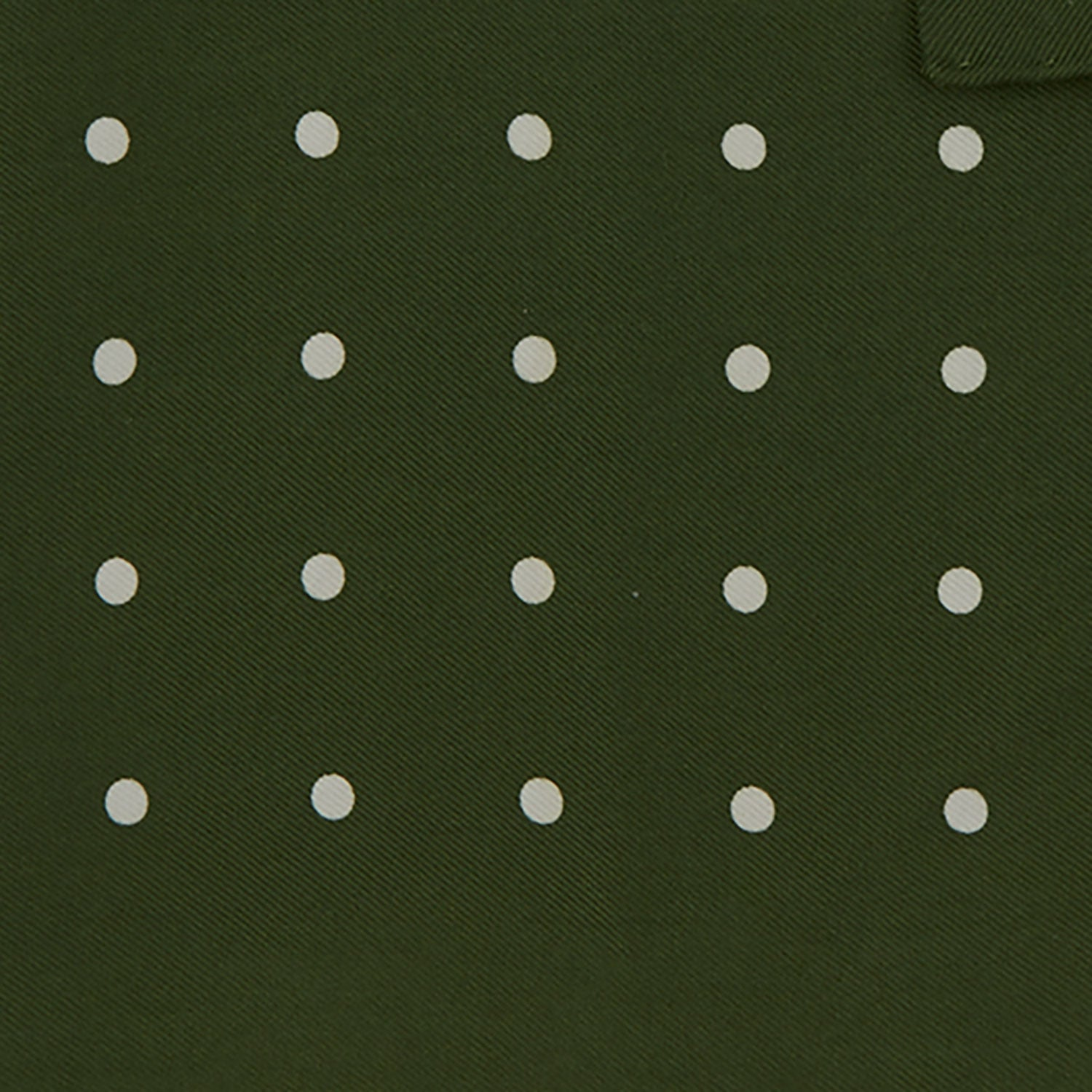 Olive Spot Silk Pocket Square