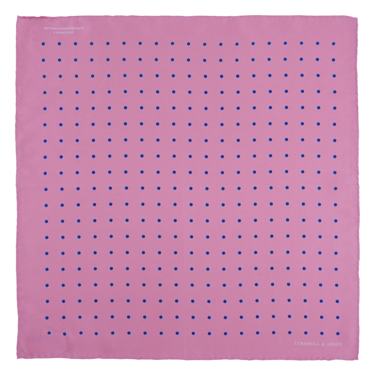 Rose and Blue Spot Silk Pocket Square