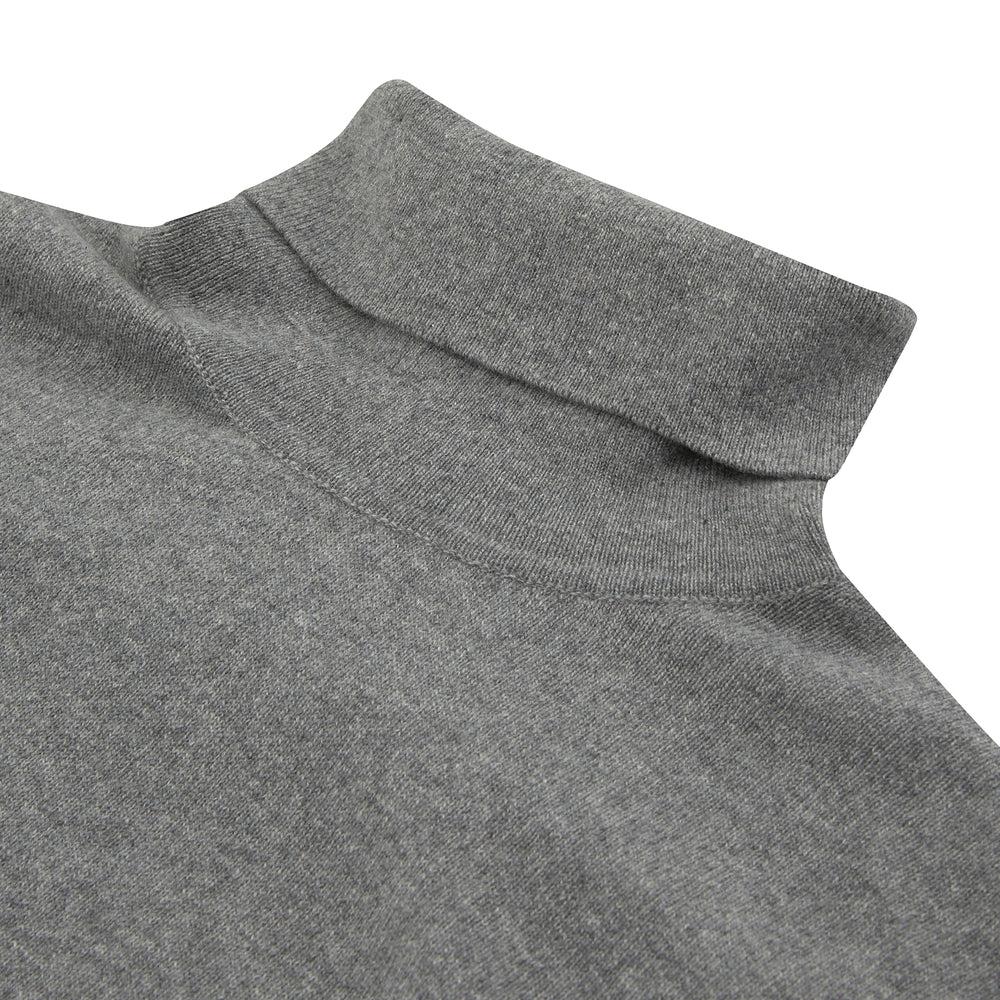 Kylian Flannel Grey Roll Neck Jumper