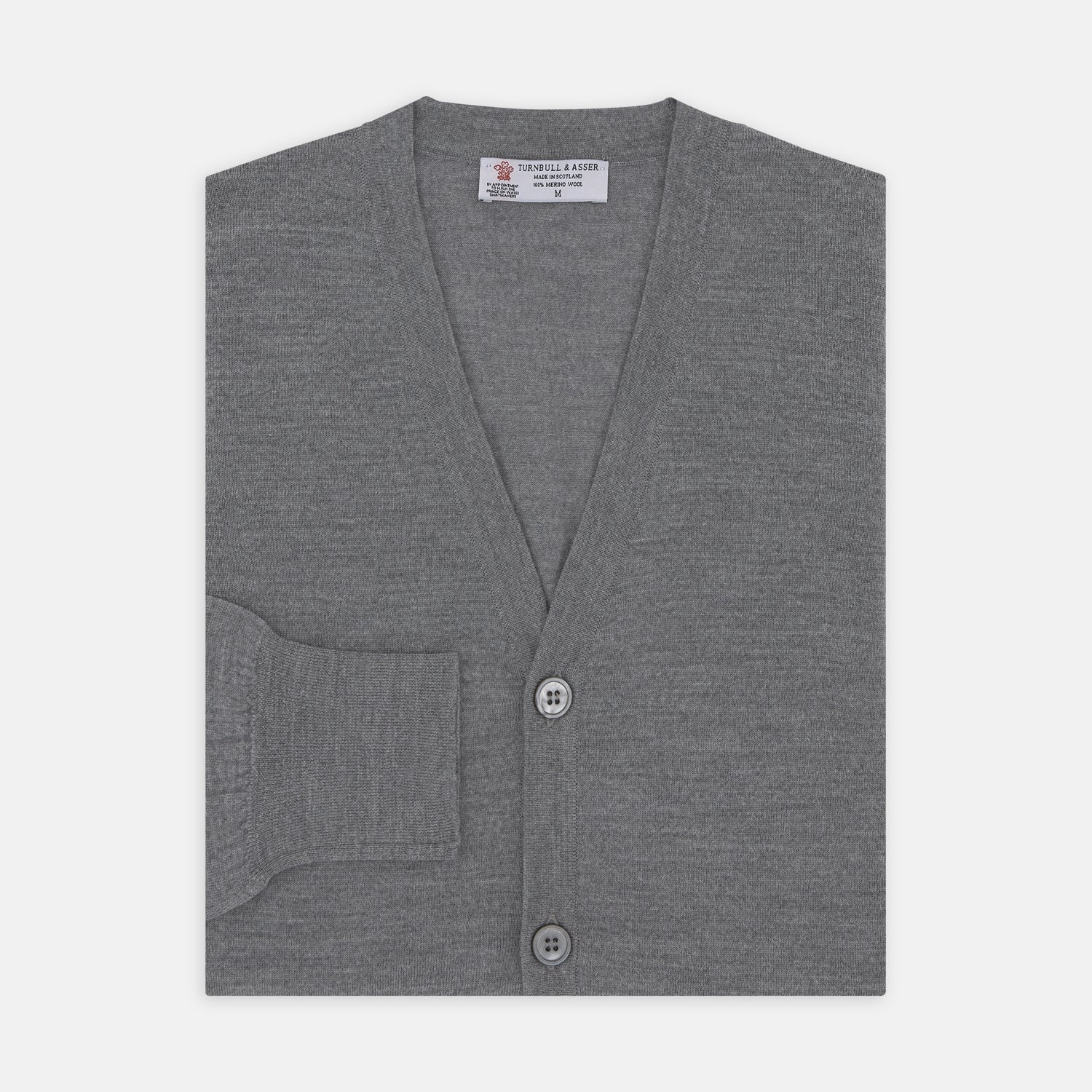 Flannel Grey Merino Wool Cardigan