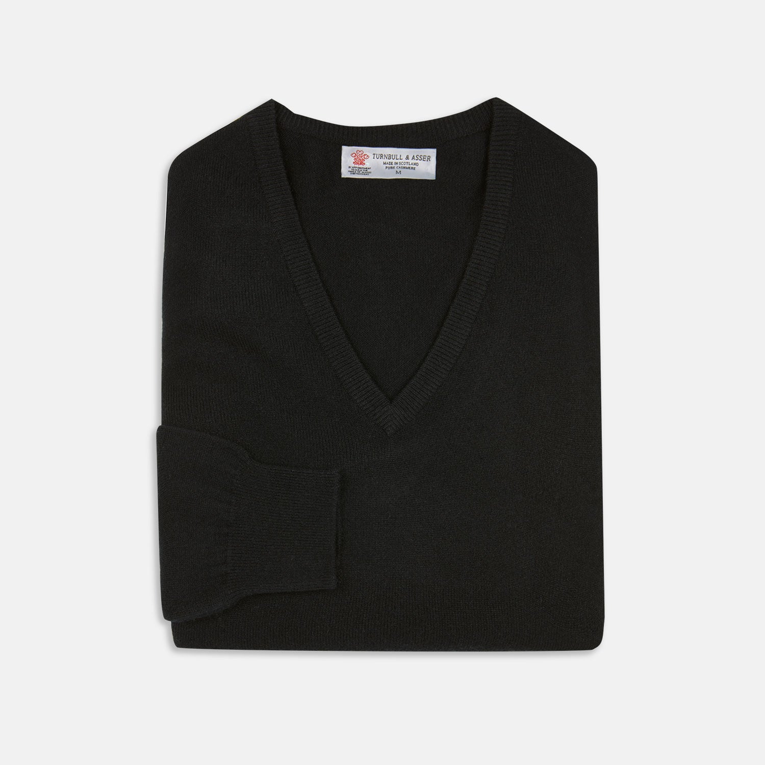 Black V-Neck Cashmere Jumper