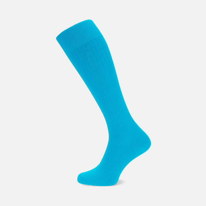Turquoise Long Cotton Socks