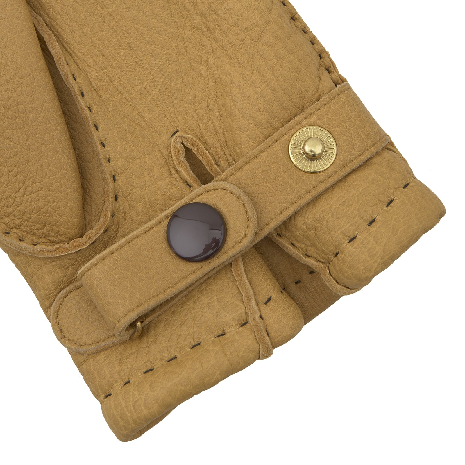 Camel Deerskin Leather Gloves