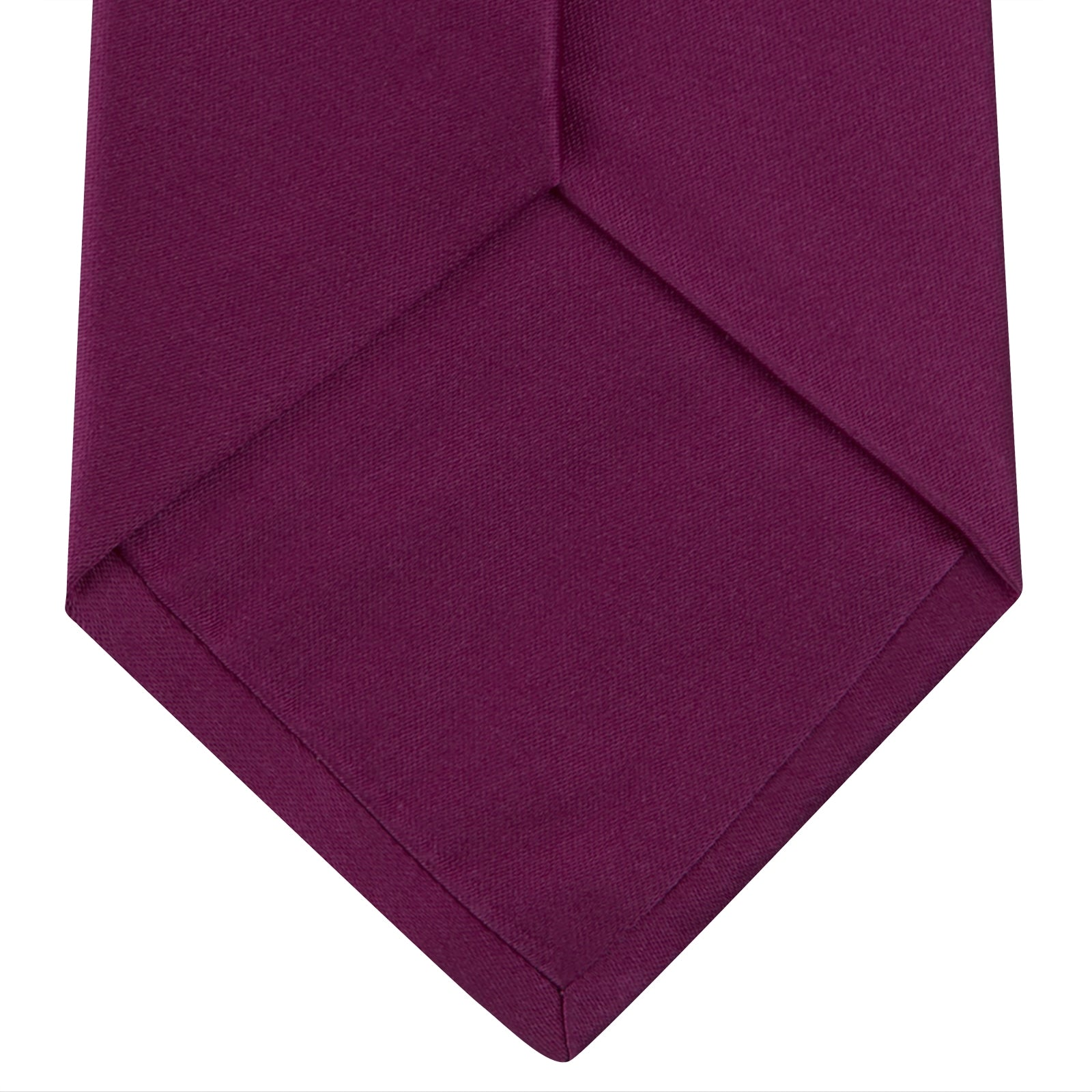 Dark Pink Plain Satin Silk Tie