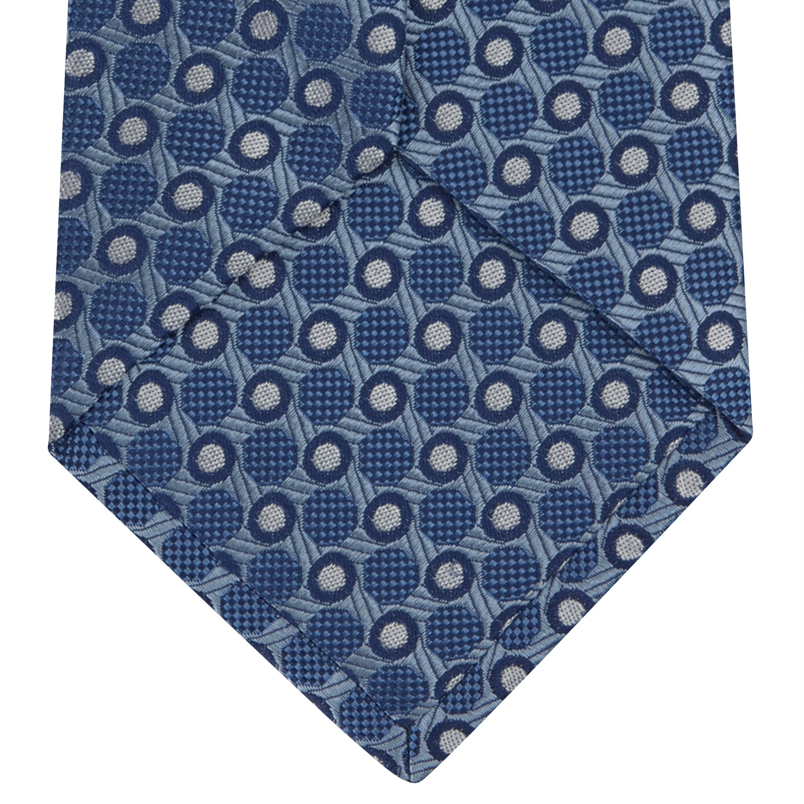 Blue Circle and Spot Silk Tie