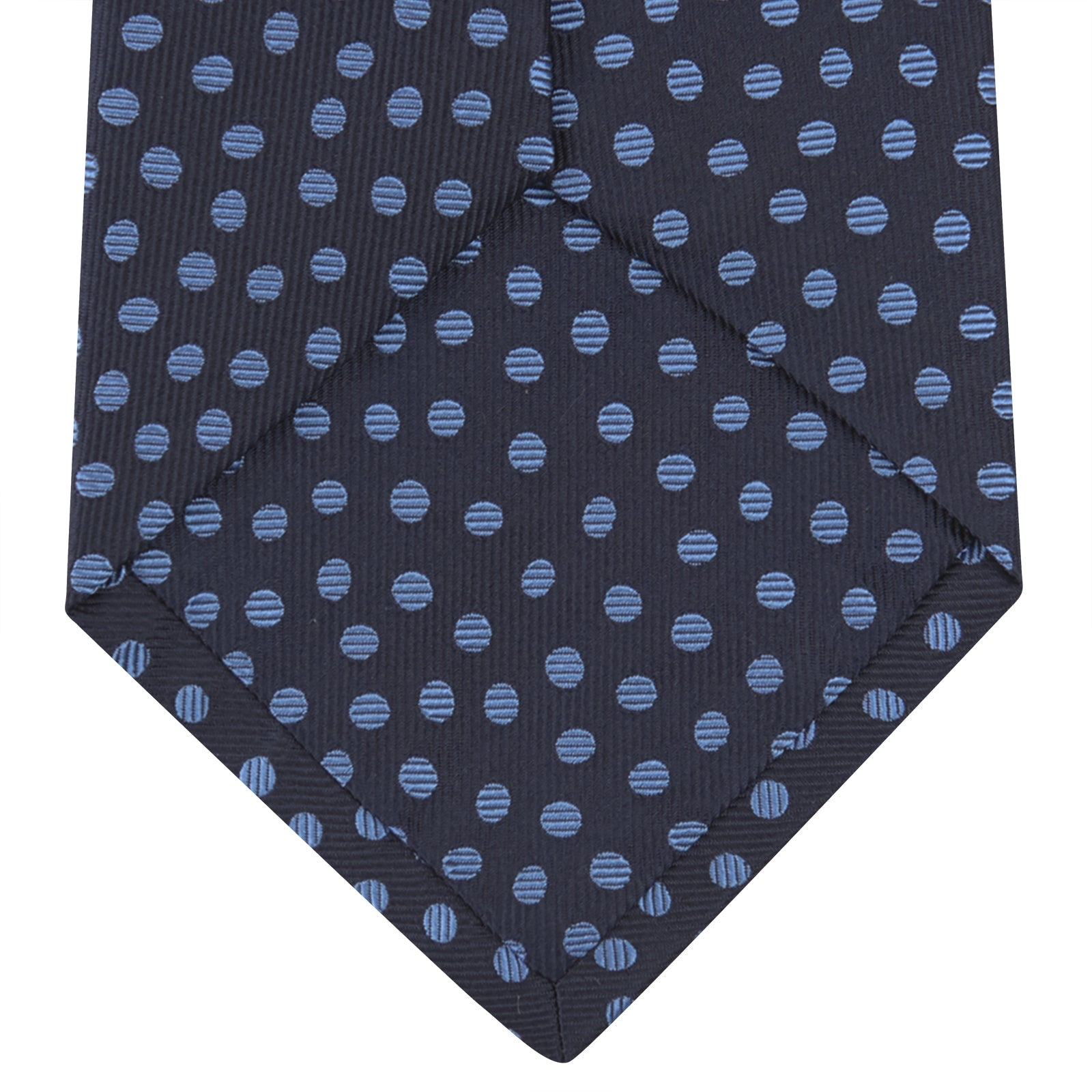 Navy and Blue Paint Spot Silk Tie