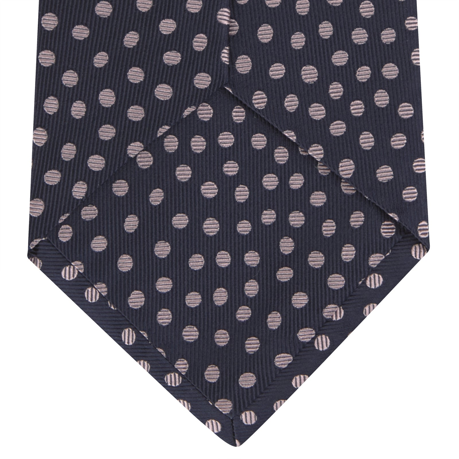 Navy and Pink Paint Spot Silk Tie