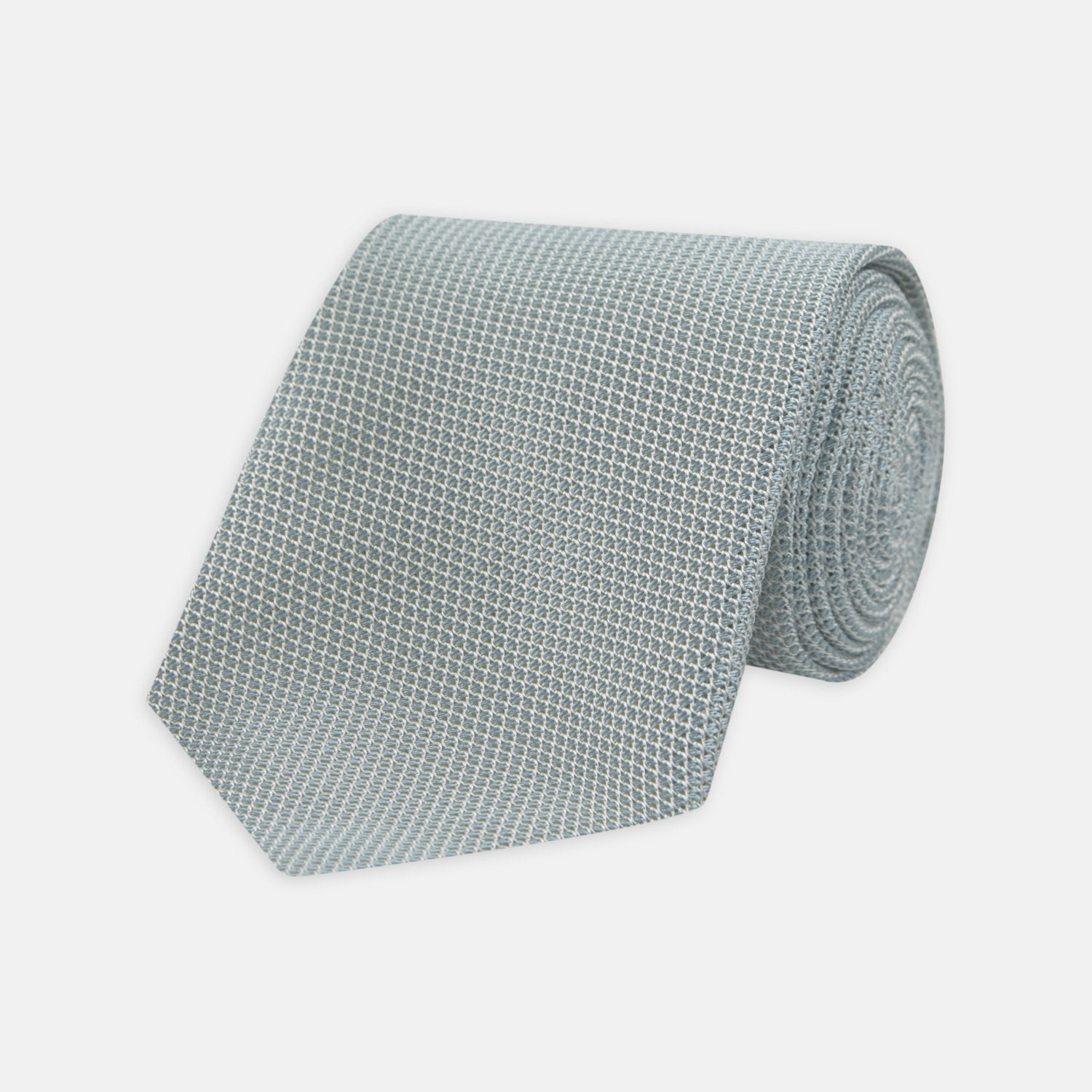 Light Blue Grenadine Silk Tie