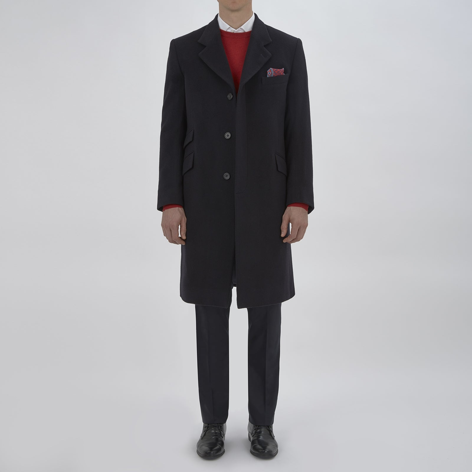 Blakeney Navy Cashmere Coat