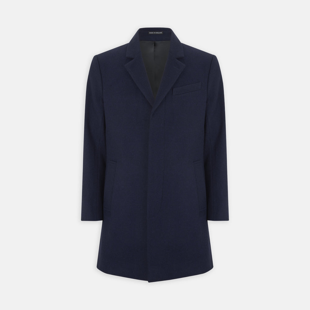 Navy Lambswool Irving Coat