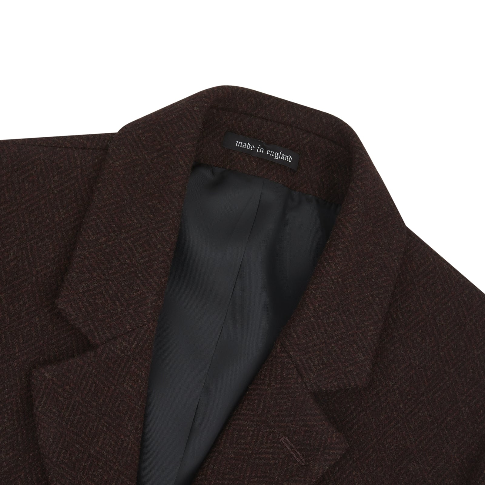 Burgundy Lambswool Irving Coat