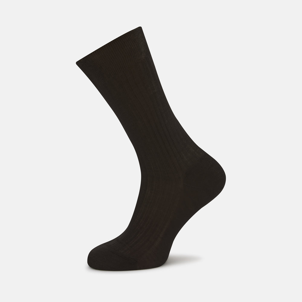 Chocolate Brown Short Cotton Socks