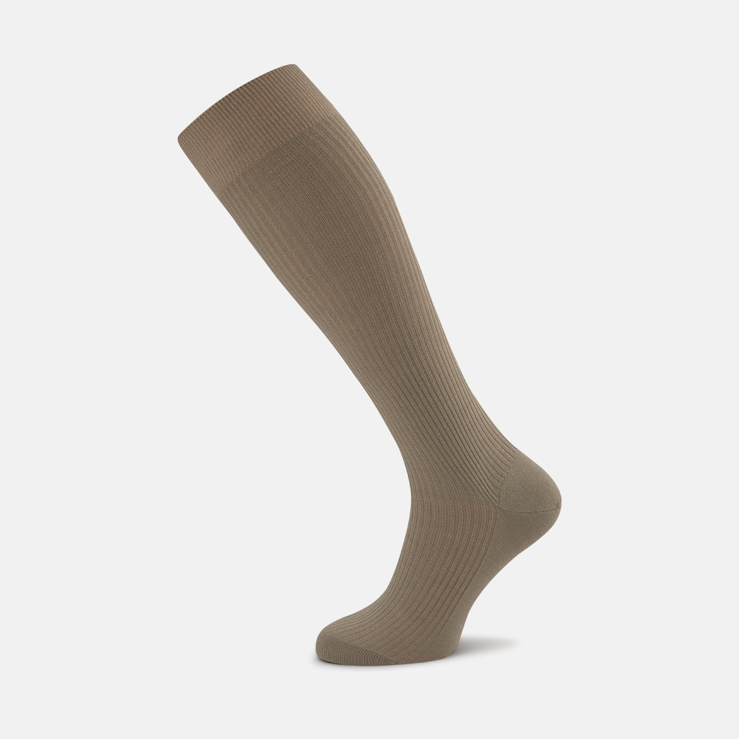 Light Khaki Long Merino Wool Socks