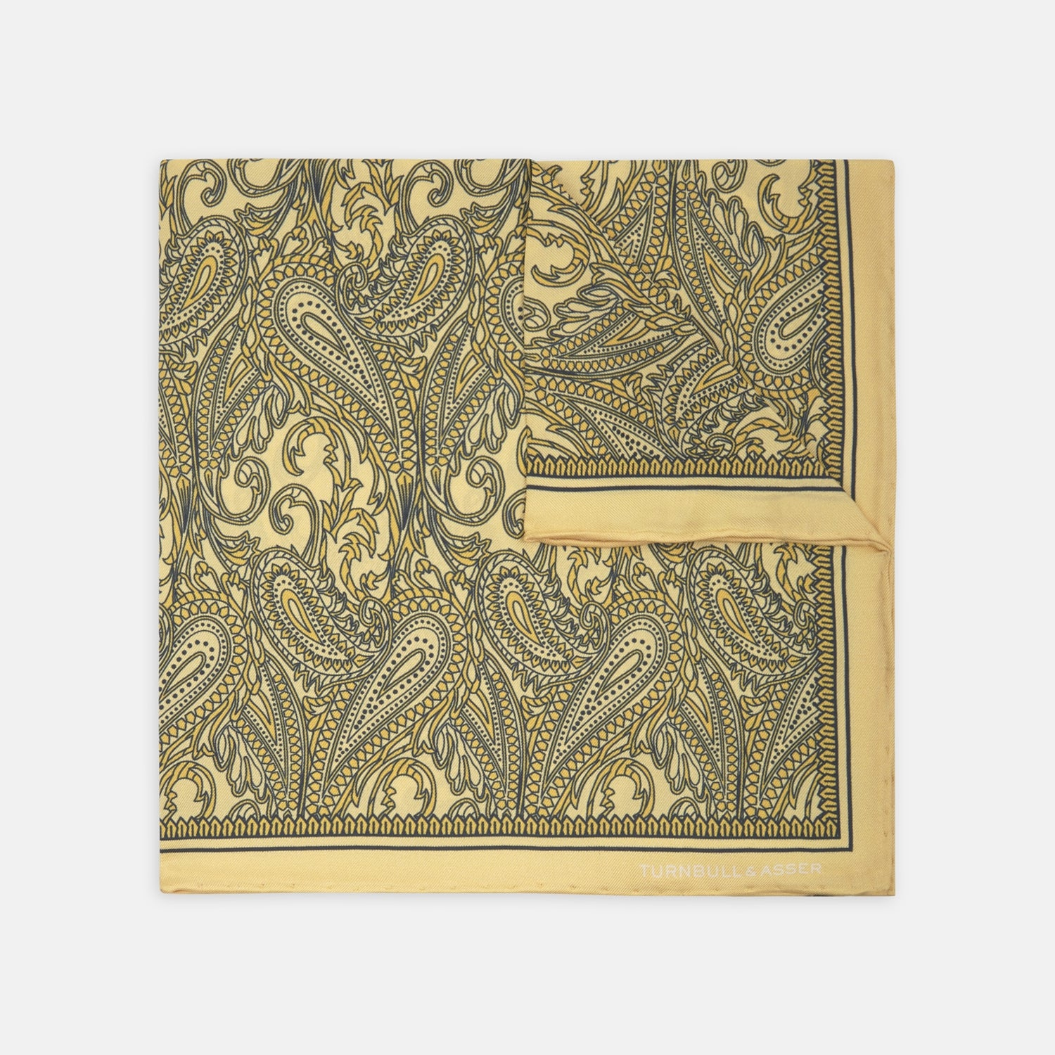 Gold House Paisley Silk Pocket Square