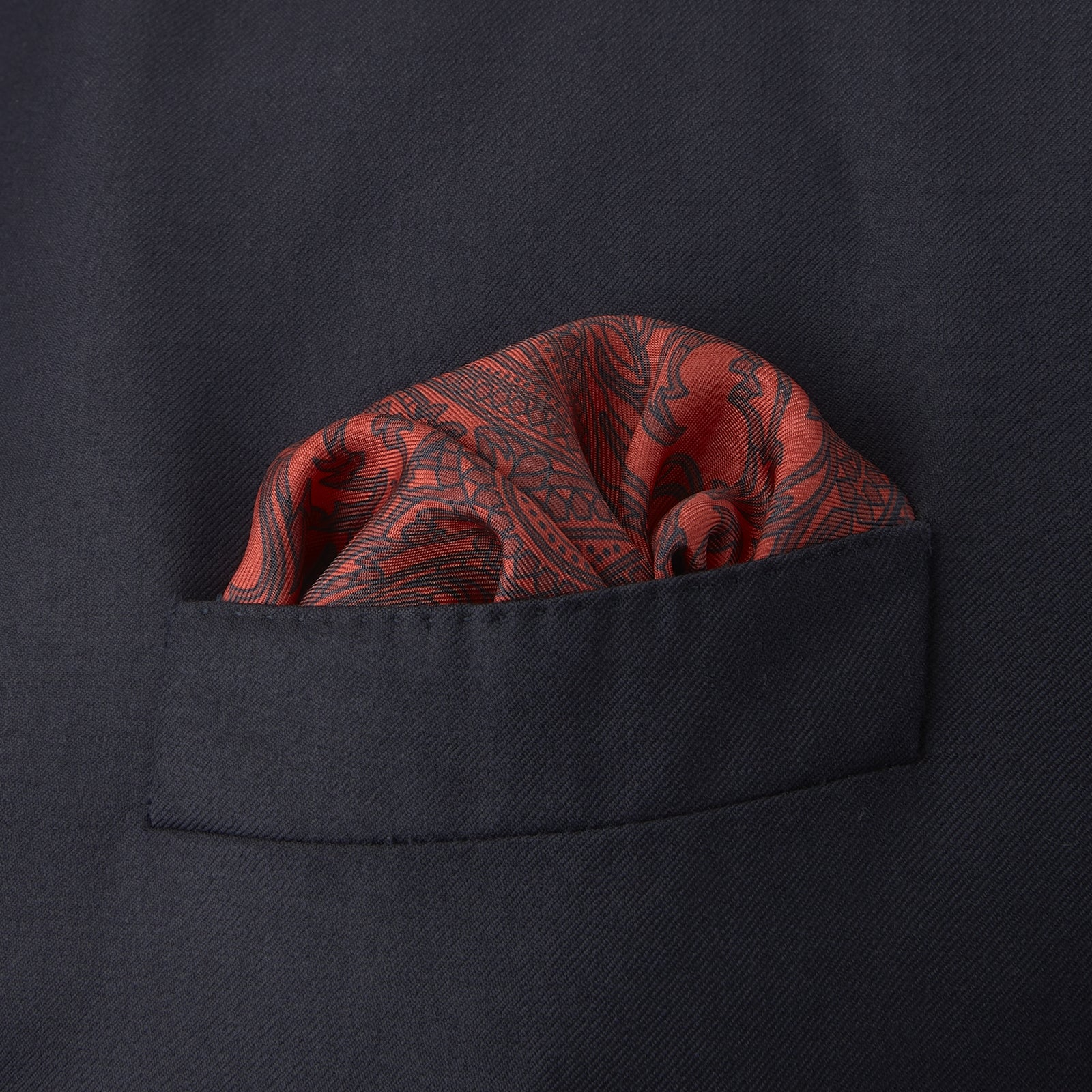 Red House Paisley Silk Pocket Square