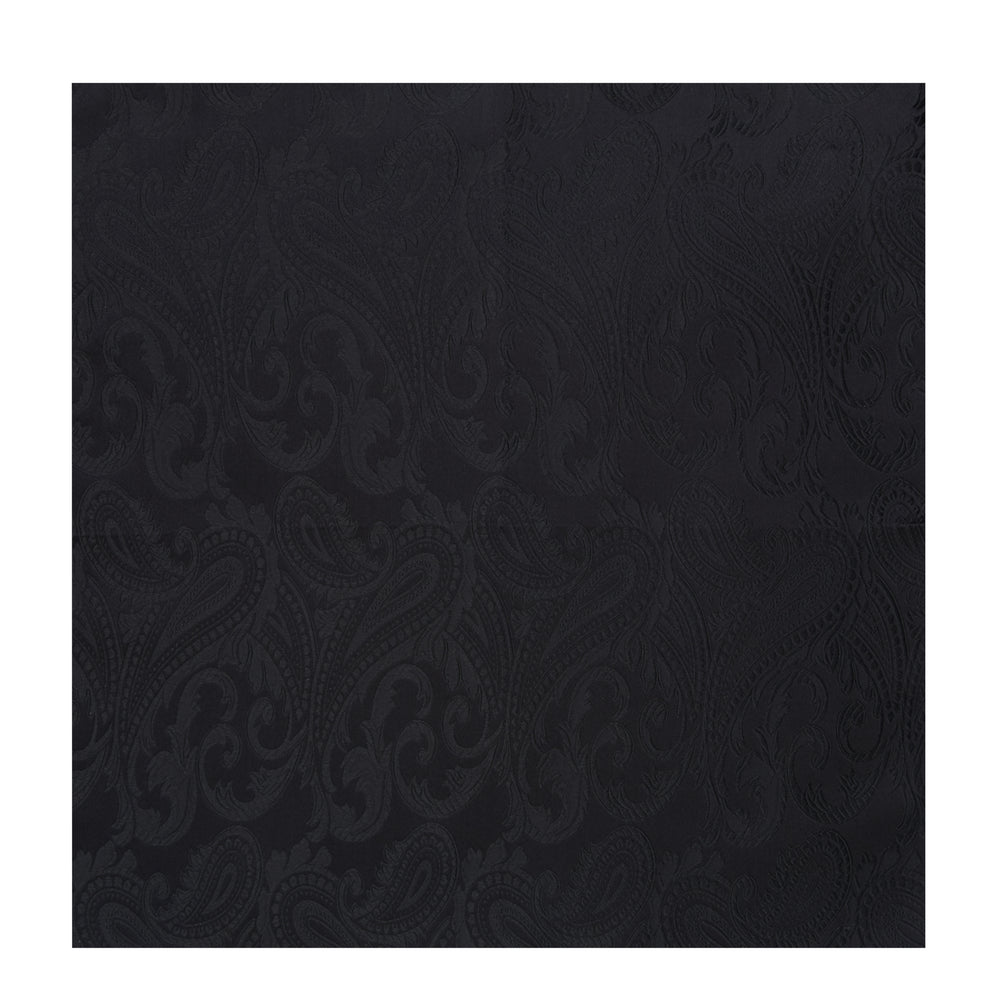 Black House Paisley Hand-Rolled Silk Pocket Square