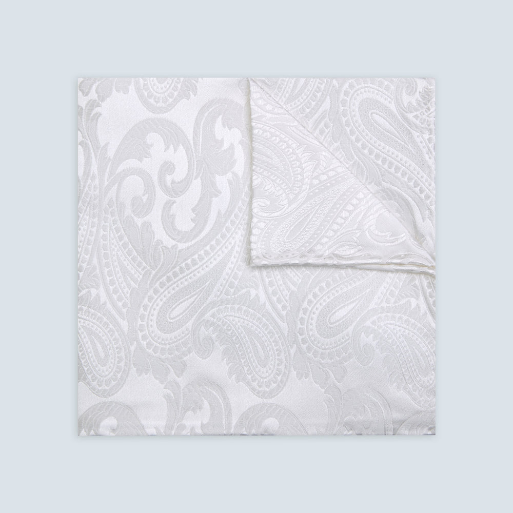 White House Paisley Hand-Rolled Silk Pocket Square