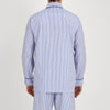 Blue Bengal Stripe Piped Cotton Pyjama Set