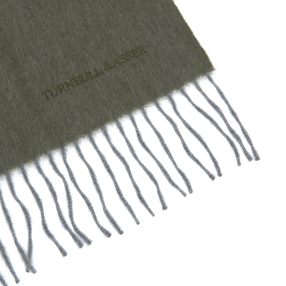 Cardamom Green Pure Cashmere Scarf