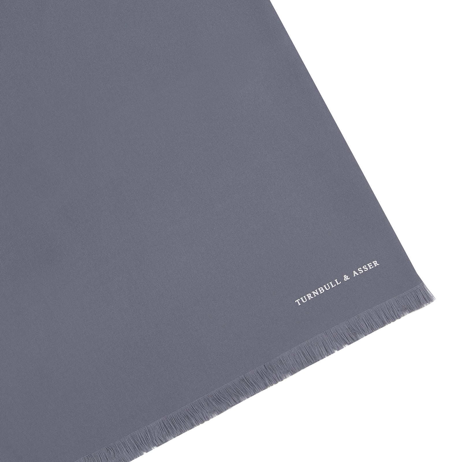 Plain Grey Silk Scarf