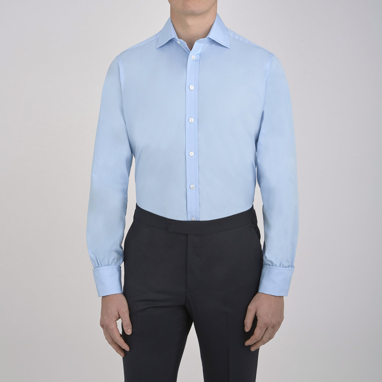 The Dr No Blue Cotton Shirt as seen on James Bond