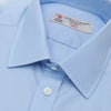 Blue Cotton Shirt with T&A Collar and 3-Button Cuffs
