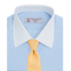 Light Blue End-on-End Shirt with Contrast T&A Collar and Double Cuffs