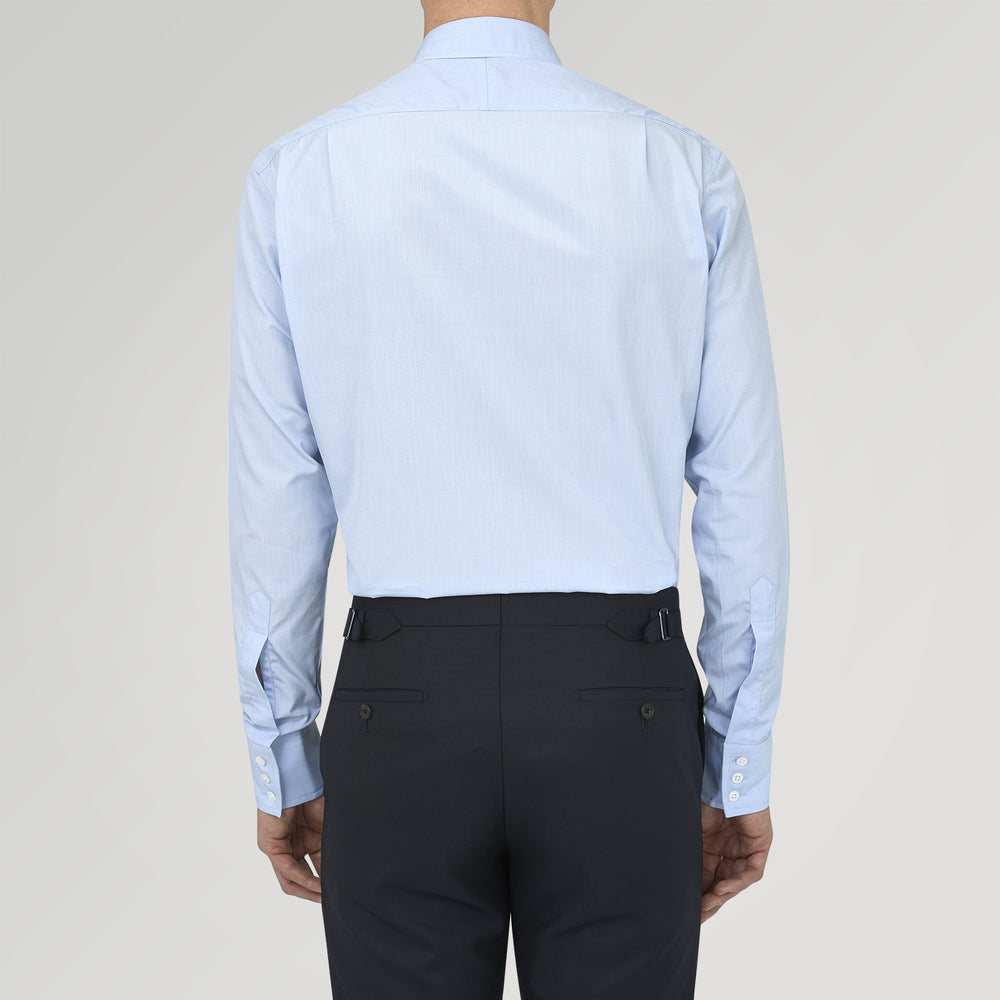 Light Blue End-on-End Shirt with Regent Collar and 3-Button Cuffs
