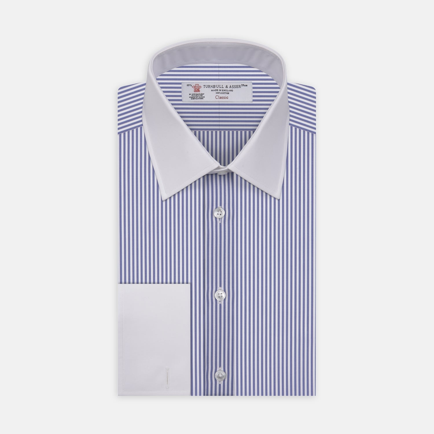 The Gekko Shirt with White Classic T&A Collar and Cuffs