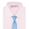 Pink Fine Check Shirt with T&A Collar and Double Cuffs