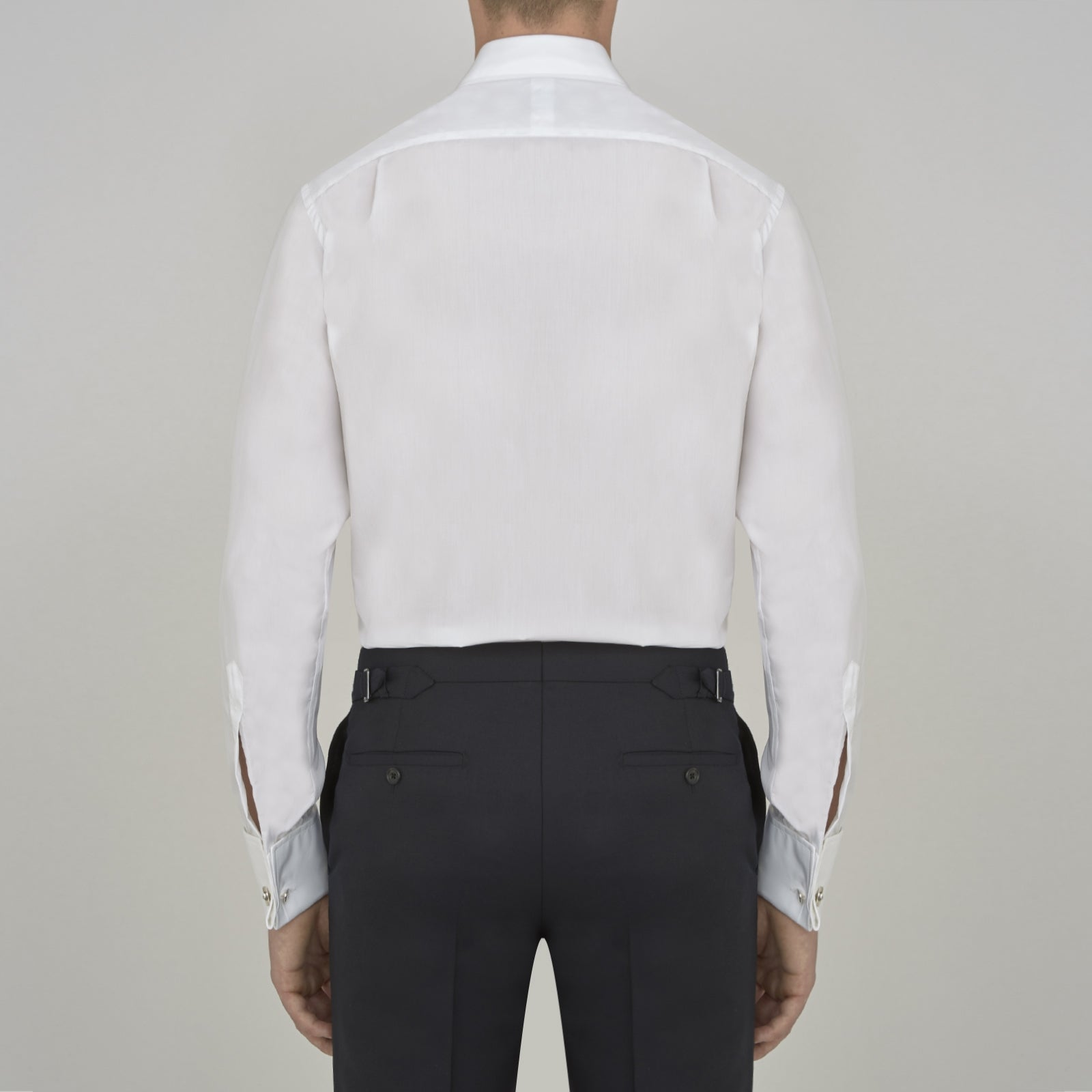 Two-Fold 200 White Cotton Shirt with T&A Collar and Double Cuffs